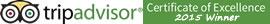 Tripadvisor 2015 Winner