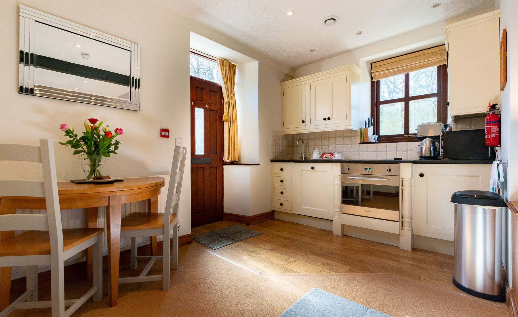 Blue Bell Kitchen and Dining. boutique Luxury Preston Holiday cottage.