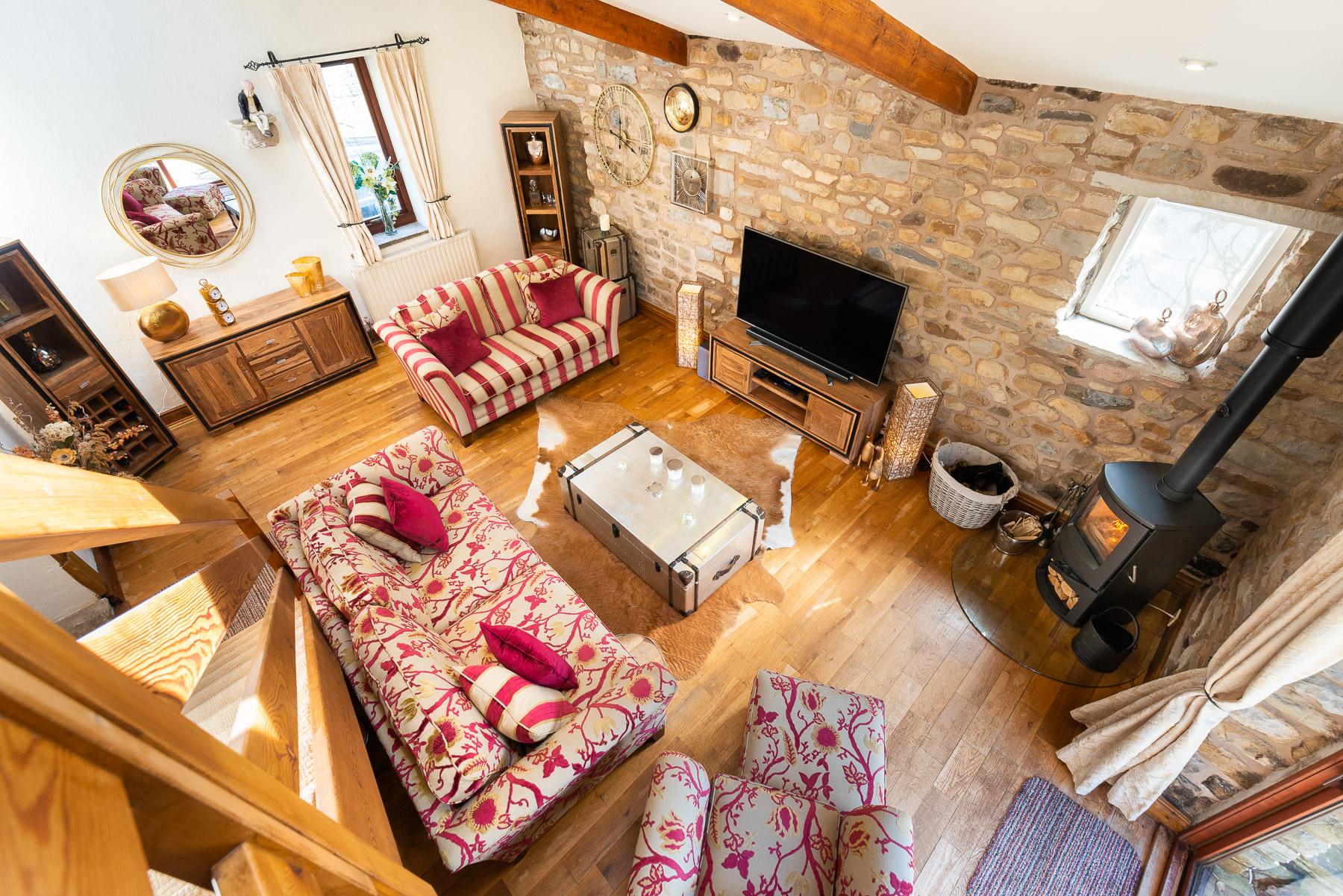 Beech Tree Cottage Lounge. Boutique luxury Lancashire holiday cottage