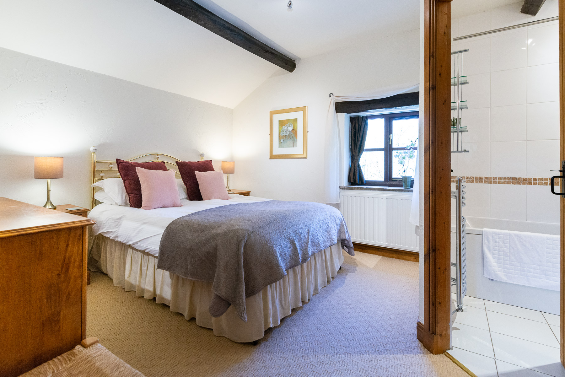 Beech Tree Cottage Bedroom. Boutique luxury Lancashire holiday cottage