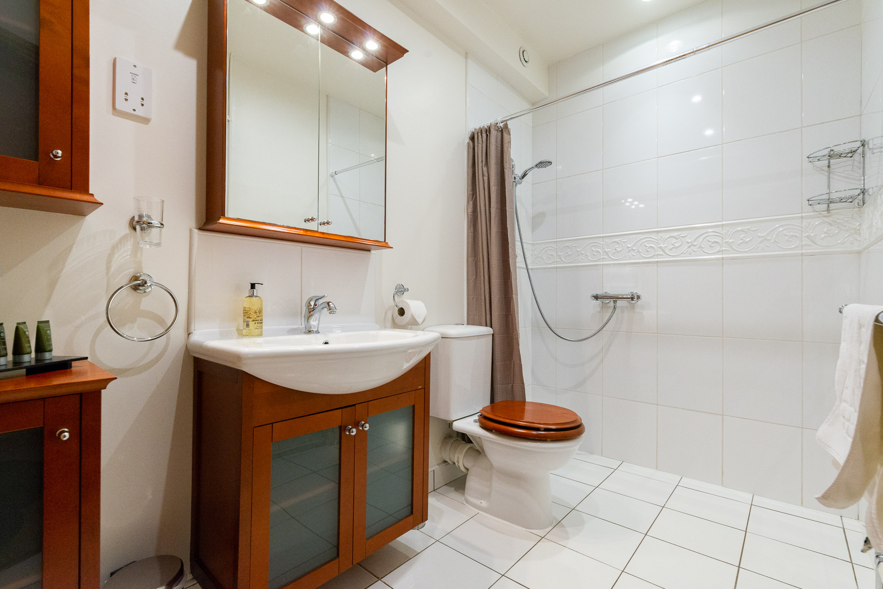 Bowland Bower Shower room . A boutique luxury Ribble Valley holiday cottage.