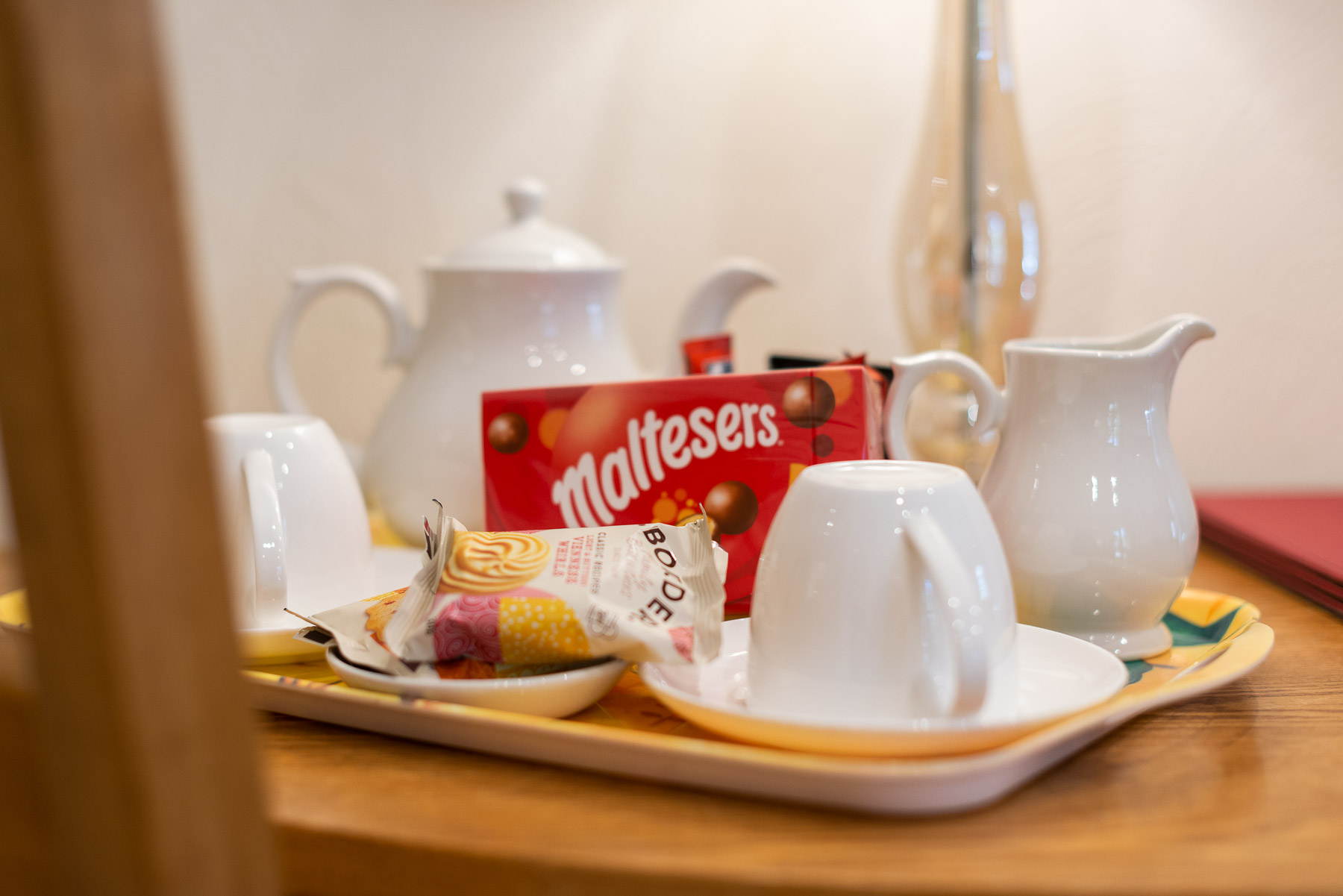 Saddlery welcome tray, a boutique luxury holiday cottage in Lancashire.