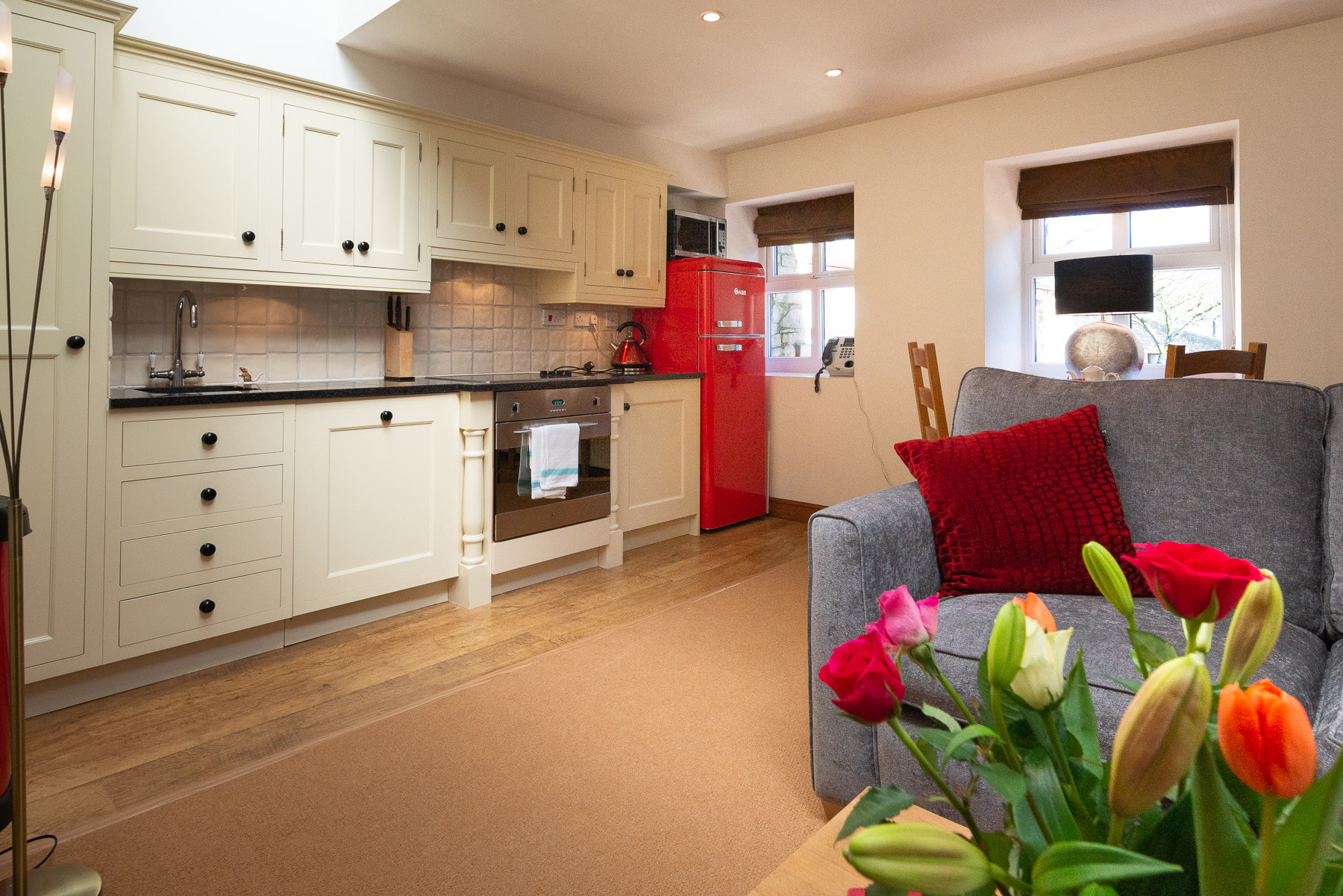 Curlews Nest Kitchen. luxury holiday cottage in Lancashire